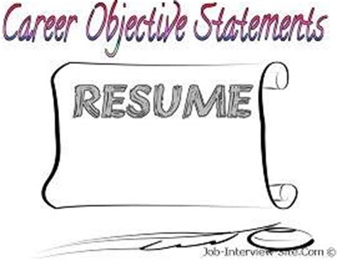 Business career objectives resume